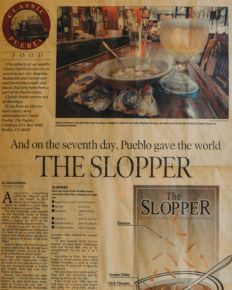 Newspaper article entitled The Slopper