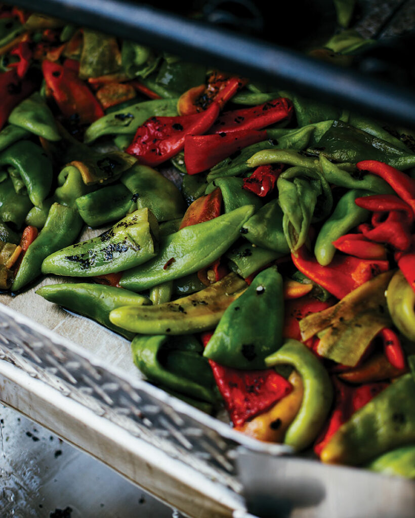 Red and green chiles